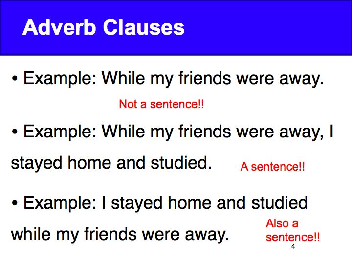 Week 4 Adverb Clauses Time David Parkers English Class