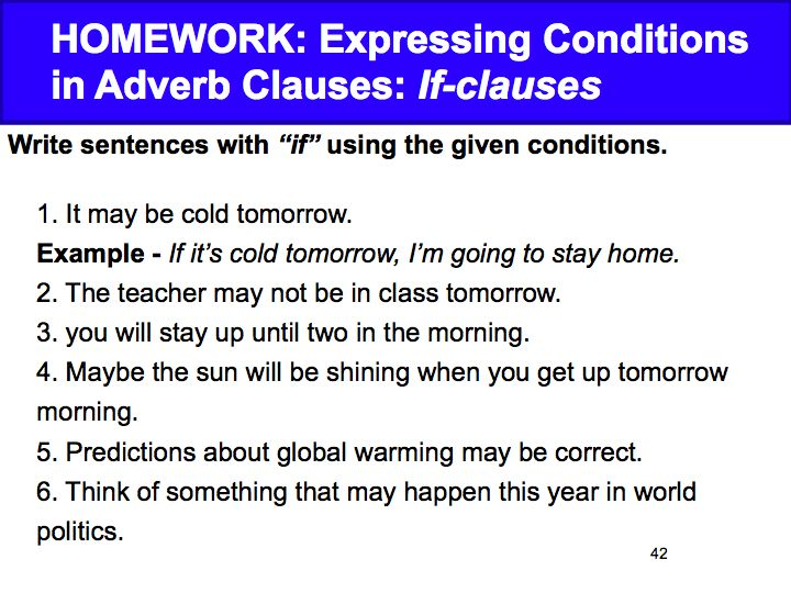 Week 5 Adverb Clauses Cause And Effect David Parkers English Class